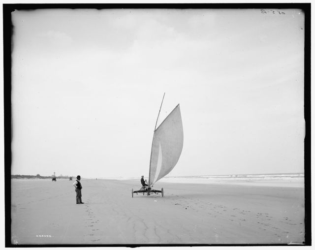 [Sailing on the beach, Ormond, Fla.]