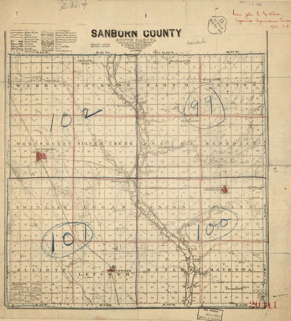 Sanborn County, South Dakota : compiled and drawn from a special survey and official records /