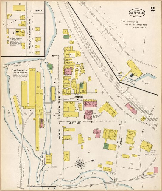 Sanborn Fire Insurance Map from Sheffield, Warren County, Pennsylvania.