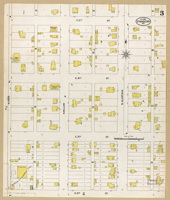 Sanborn Fire Insurance Map from Stanberry, Gentry County, Missouri.