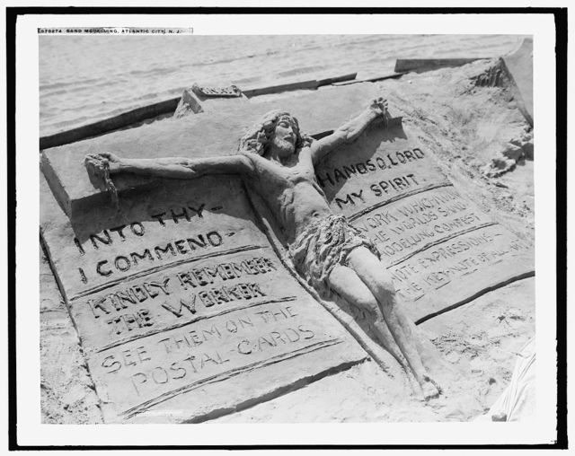 Sand modelling, Atlantic City, N.J.