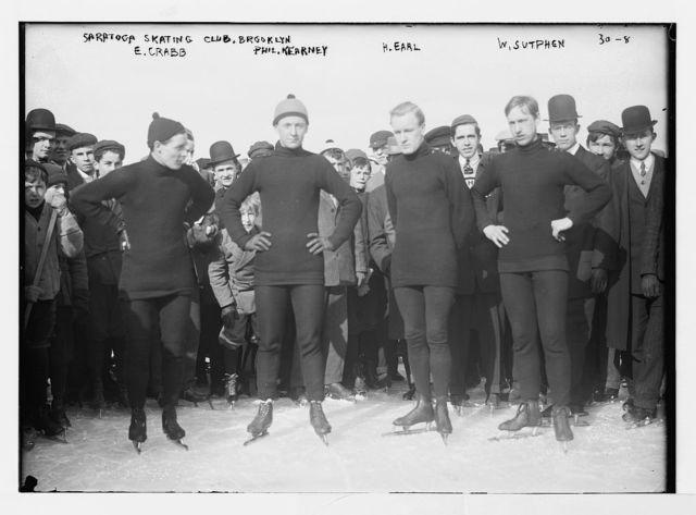 Saratoga skating Club, Brooklyn, E. Crabb, Phil. Kearney, H. Earl, W. Sutphen, New York