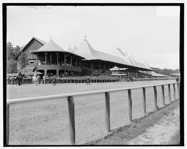 [Saratoga Springs, N.Y., grand stand, Race Track]
