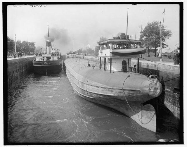 [Sault Ste. Marie, Mich., whaleback barge in We[i]tzel Lock]
