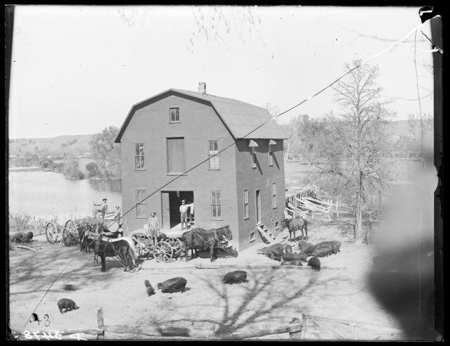 Saw mill on Niobrara east of Valentine, Nebraska.