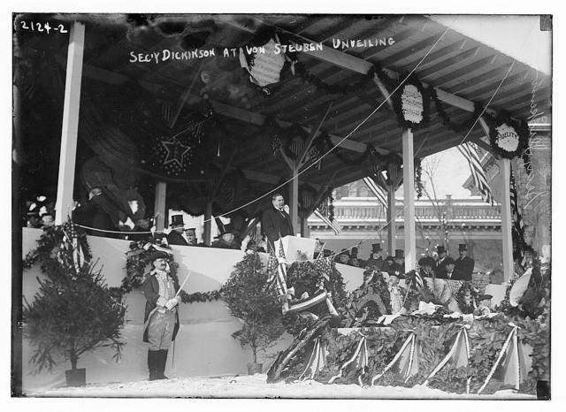 Sec. Dickinson at von Steuben unveiling