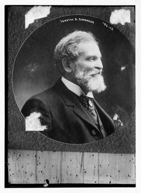 Senator R. Berenger, cameo profile portrait