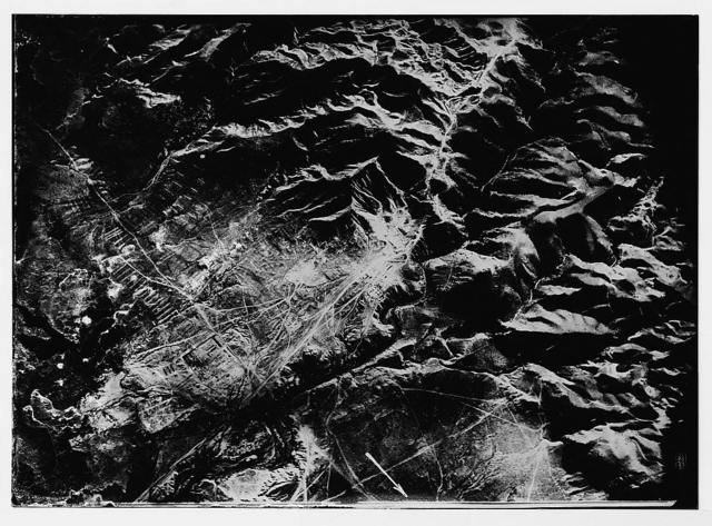 Series of first aerial photographs of Palestine and Syria. Herodian Jericho from 4500 m.