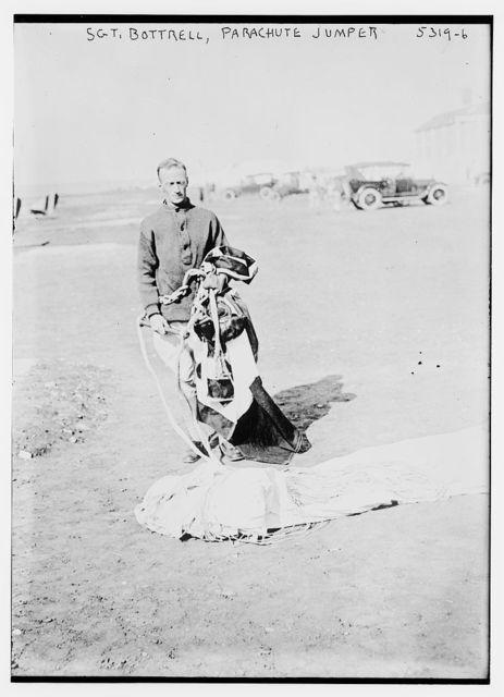 Sgt. Bottrell, parachute jumper
