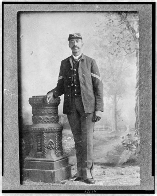 [Sgt. John Denny, full-length portrait, standing, facing front]