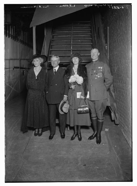Sgt. Woodfill and wife, E.F. Albee, and Mrs. O. Harriman