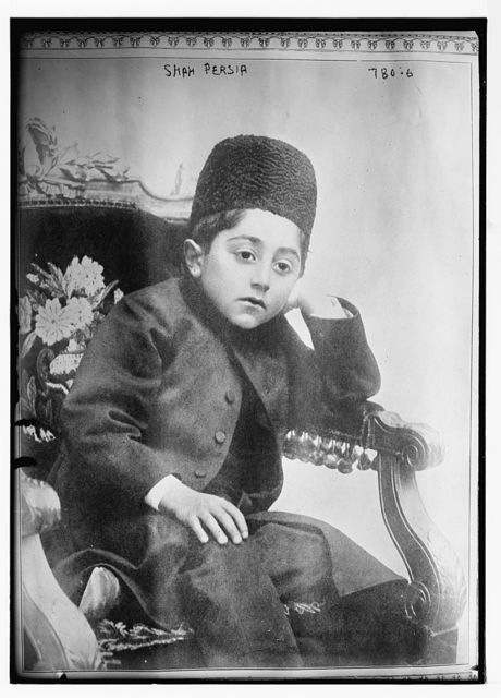 Shah of Persia, seated