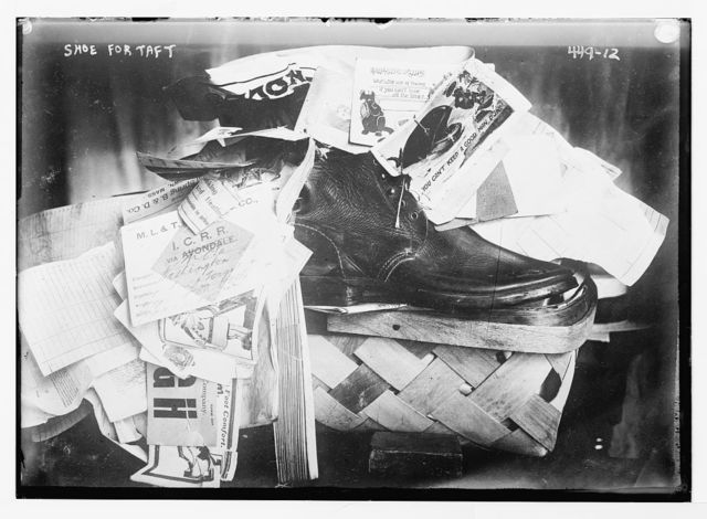 Shoe for Taft [in basket, with tags]