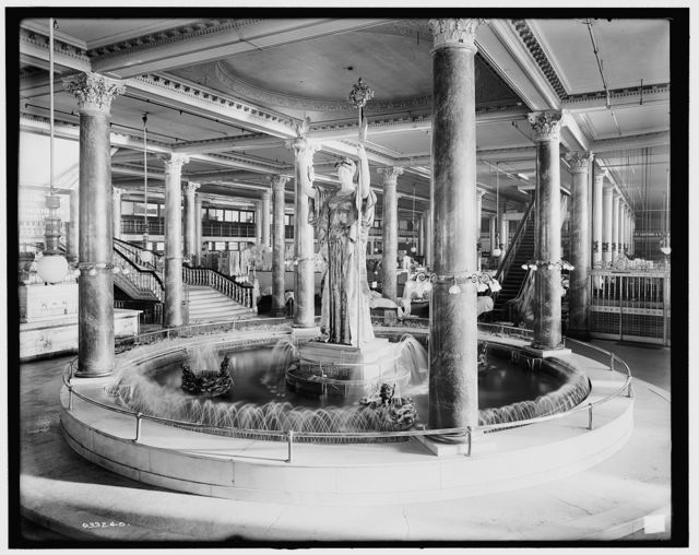 [Siegel Cooper & Co., the fountain, water running]
