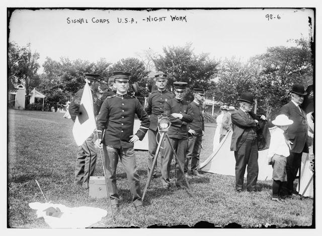 Signal Corps U.S.A. - Night Work
