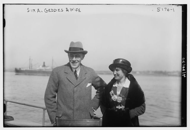 Sir A. Geddes & wife