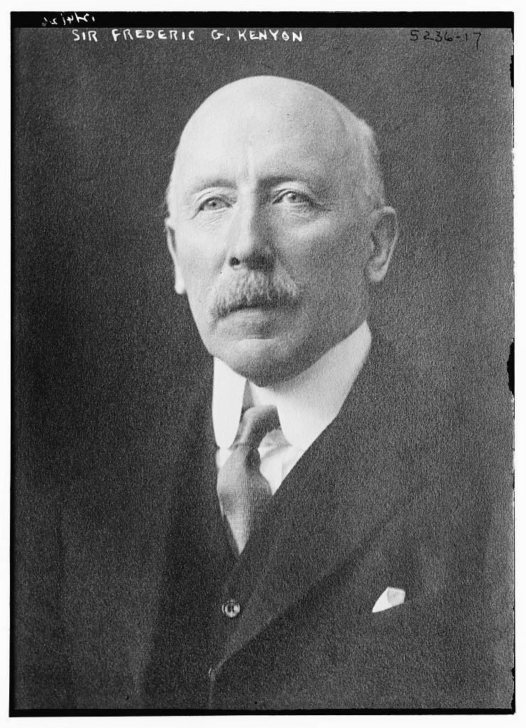 Sir Frederic G. Kenyon