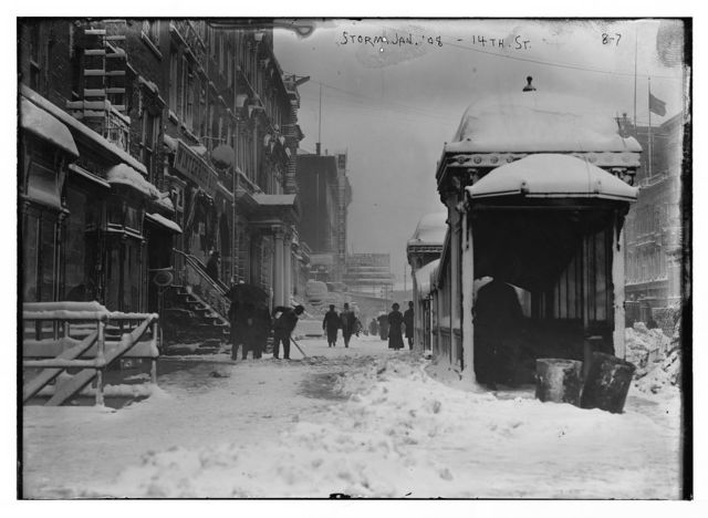 Snow storm, 14th St., New York
