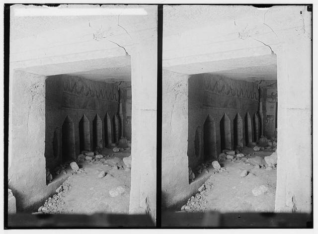 Southern Palestine. Loculi on left of main chamber of tomb [Beit Jibrin].