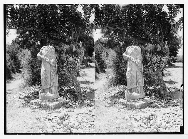 Southern Palestine. Marble statue unearthed [Askalon].