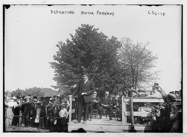 Speaker at dedication of motor parkway