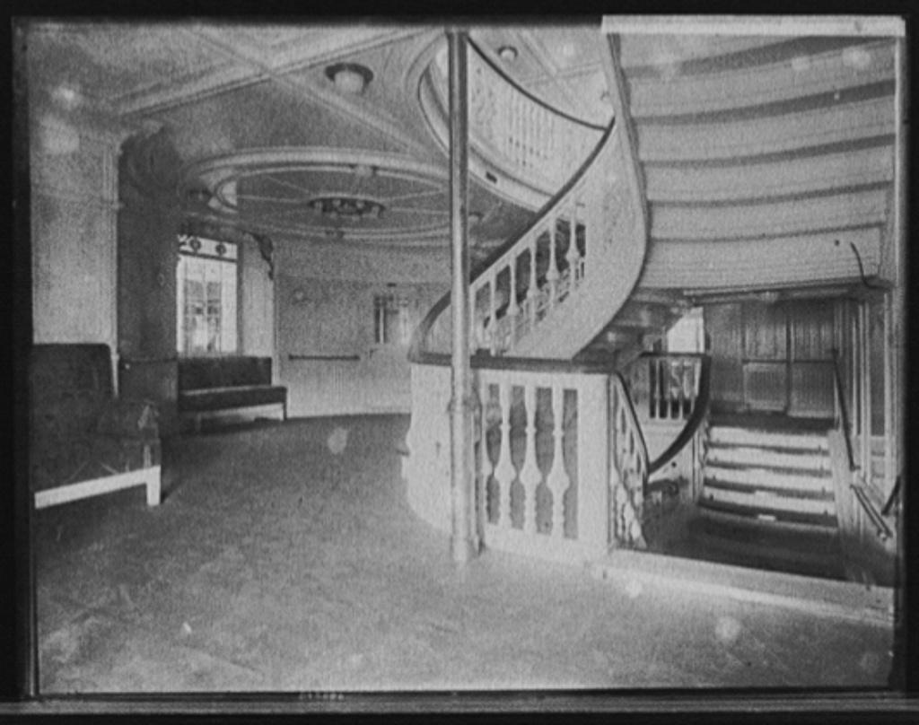 [S.S. Deutschland, staircase]