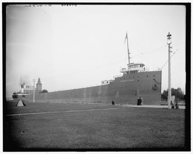 [S.S. Thomas F. Cole in Poe Lock, Sault Ste. Marie, Mich.]
