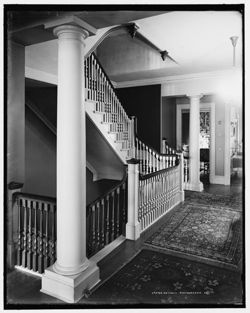 [Staircase, four-story townhouse, possibly New York,N.Y.]