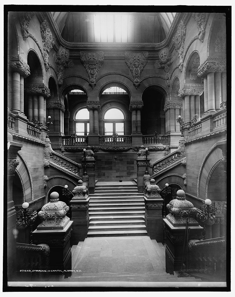 Staircase in capitol, Albany, N.Y.