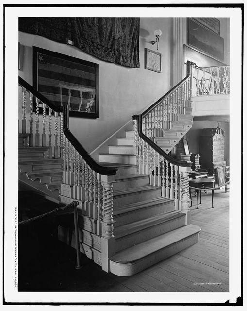 Stairway, Essex Institute, Salem, Mass.
