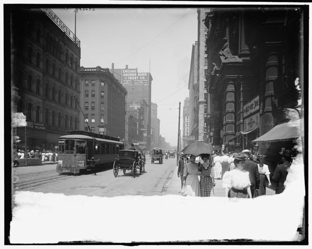 [State Street north from Palmer House, Chicago, Ill.]