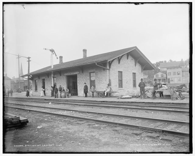 Station [of the Chicago and Alton Railroad] at Lemont, Ill.