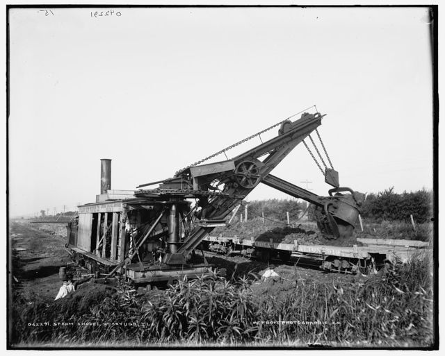 Steam shovel at Cayuga, Ill.