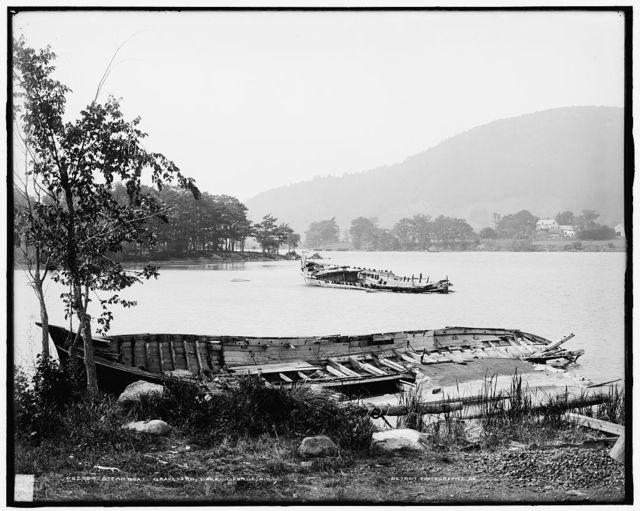 Steamboat graveyard, Lake George, N.Y.