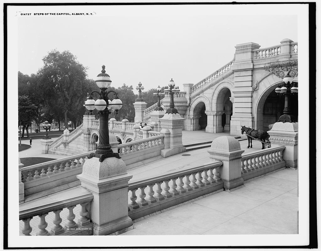 Steps of the Capitol, Albany, N.Y.