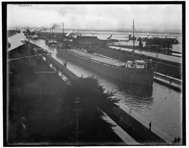 [Str. Augustus B. Wolvin in Poe Lock, Sault Ste. Marie, Mich.]
