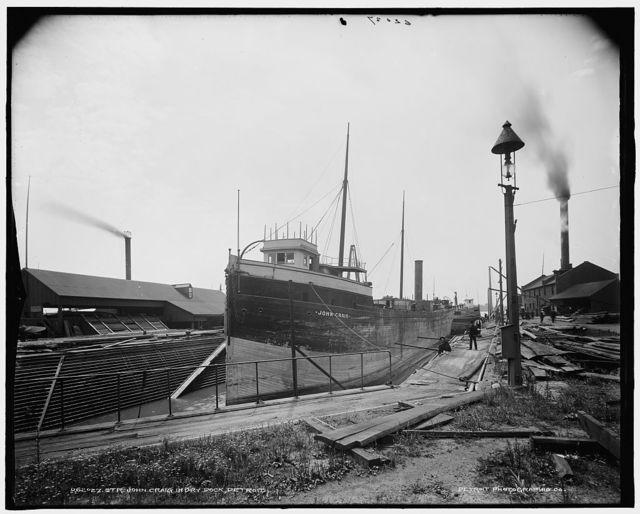 Str. John Craig in dry dock, Detroit