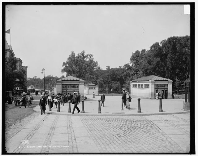 Subway entrances on Boston Common