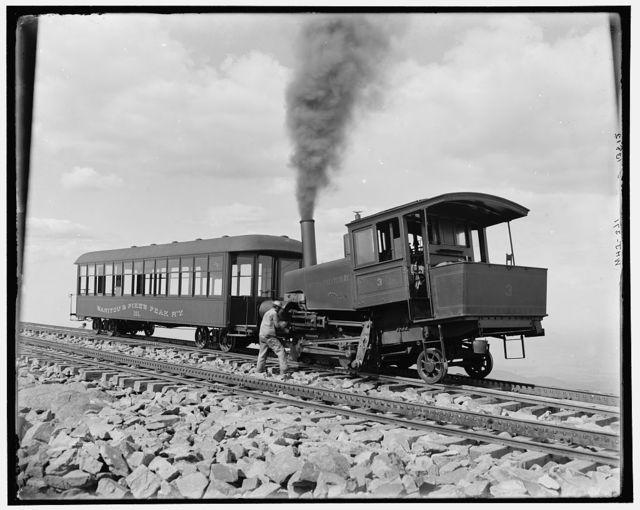 [Summit, cog wheel train, Manitou and Pike's Peak Railway, Colo.]