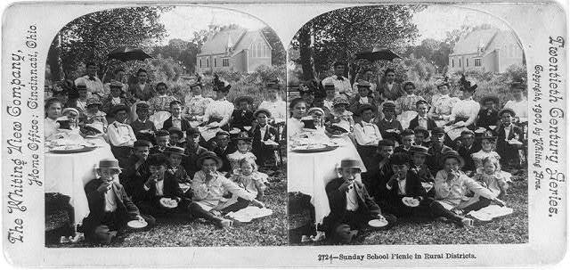 Sunday school picnic in rural districts