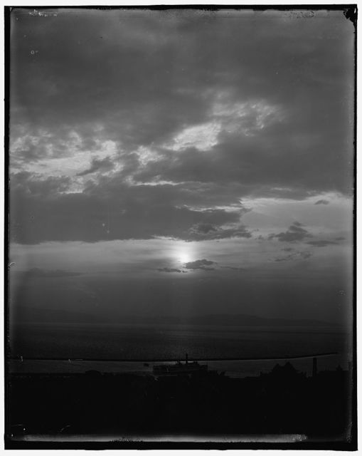 [Sunset sky across Lake Champlain, Burlington, Vt.]
