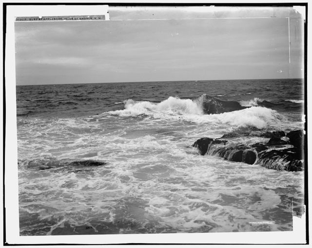 Surf at Appledore, Isles of Shoals, N.H. [i.e. Maine]