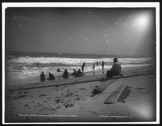 Surf bathing at Palm Beach, Florida