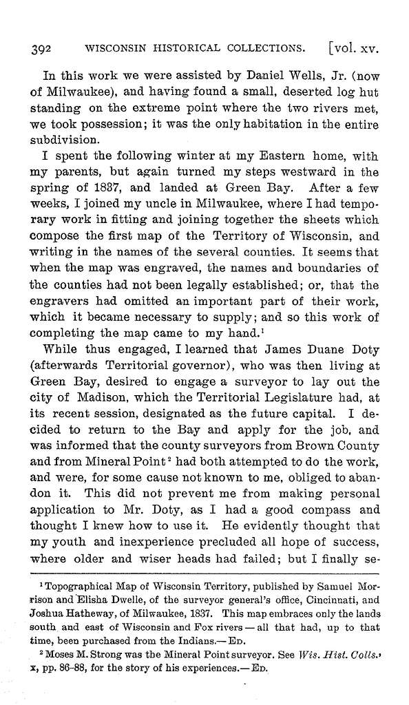Surveying in Wisconsin, in 1837