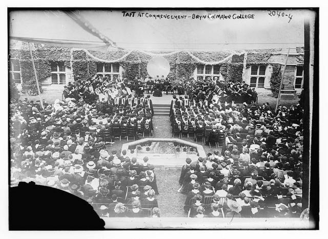 Taft at Commencement - Bryn Mawr College