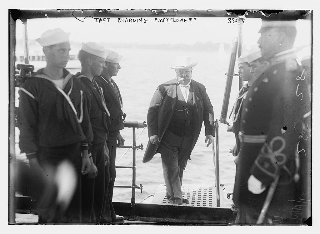 "Taft boarding ""Mayflower"""