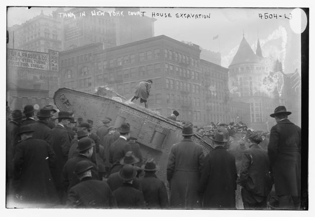 Tank in New York Court House excavation