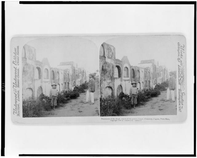 Tenements of the dead--Tombs of the poorer classes - cemetery, Caguas, Porto Rico