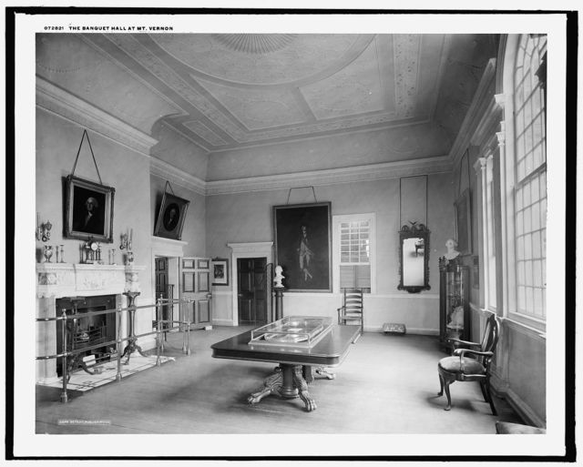 The Banquet hall at Mt. Vernon
