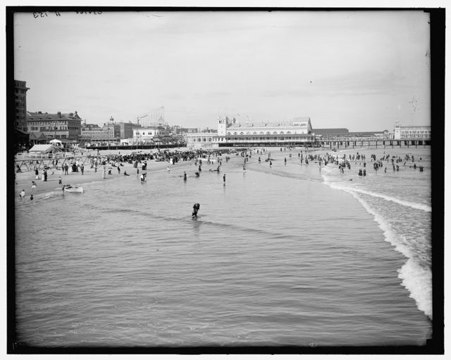 [The Beach, Atlantic City, N.J.]